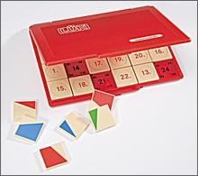 Lük-Kontrollgerät, kompakt, mit 24 Aufgabenplättchen passend zu allen früheren und zukünftige Lük-Heften