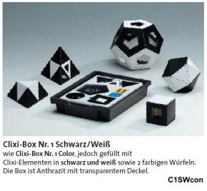 Clixi Box 1 Schwarz/Weiß, die Demo-Version für Lehrer