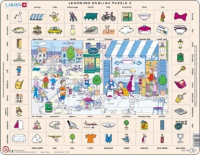 Puzzle - Learning English Puzzle 2, Format 36,5x28,5 cm, Teile 7