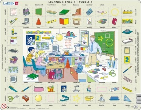 Puzzle - Learning English Puzzle 6, Format 36,5x28,5 cm, Teile 7