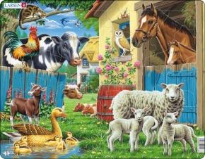 Puzzle - Tiere auf dem Bauernhof, Format 36,5x28,5 cm, Teile 23