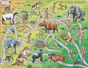 Puzzle - Der Weg vom Affen zum Menschen, Format 36,5x28,5 cm, Te