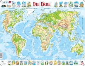 Puzzle - Die Erde, physisch, Format 36,5x28,5 cm, Teile 80