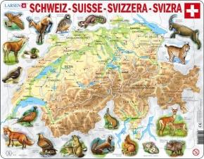 Puzzle - Schweiz, physisch, Format 36,5x28,5 cm, Teile 75