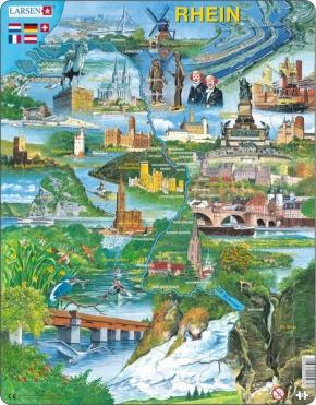 Puzzle - Rhein, Motive eines Flusses, Format 36,5x28,5 cm, Teile