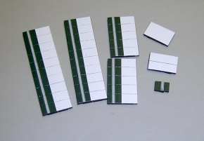 Satz Kippmagnete für Stundenplan, dunkelgrün mit Streifen/ weiß