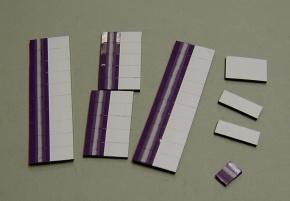 Satz Kippmagnete für Stundenplan, lila mit Streifen / weiß