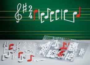 Musiknotensatz NZ4ST für 2,5 cm Notenlinien
