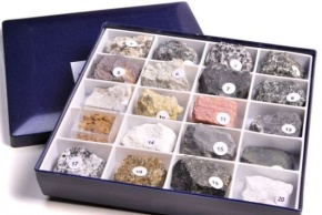 Schülersammlung 20 Gesteine, magmatisch, sedimentär, metamorphen