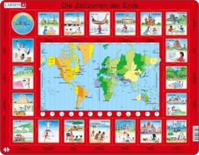 Puzzle - Zeitzonen,  Format 36,5x28,5 cm, Teile 35