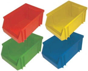 Stapelbox, rot, mittel, 18x12x9 cm