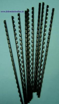 Plastik-Binderinge, 10mm Ø, Farbe schwarz, (100 Stück) für 70 Bl